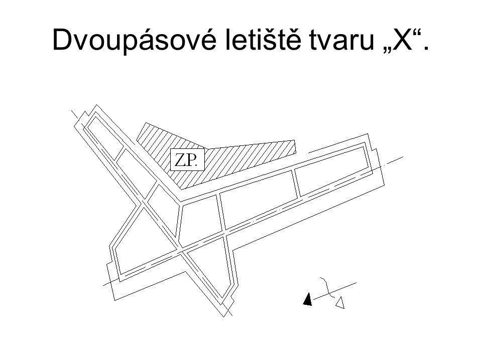 """Dvoupásové letiště tvaru """"X""""."""