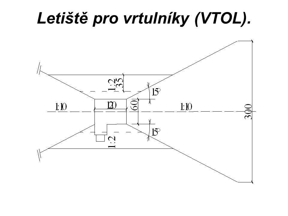 Letiště pro vrtulníky (VTOL).
