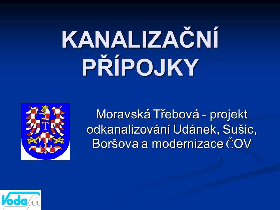 KANALIZAČNÍ PŘÍPOJKY Moravská Třebová - projekt odkanalizování Udánek, Sušic, Boršova a modernizace Č OV