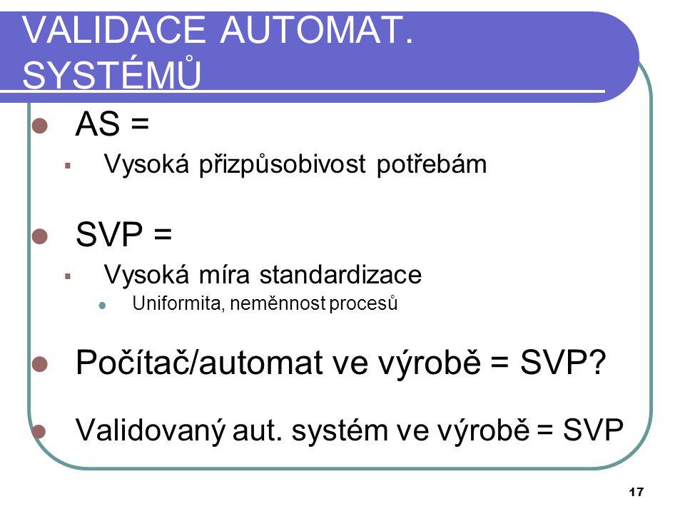 VALIDACE AUTOMAT.