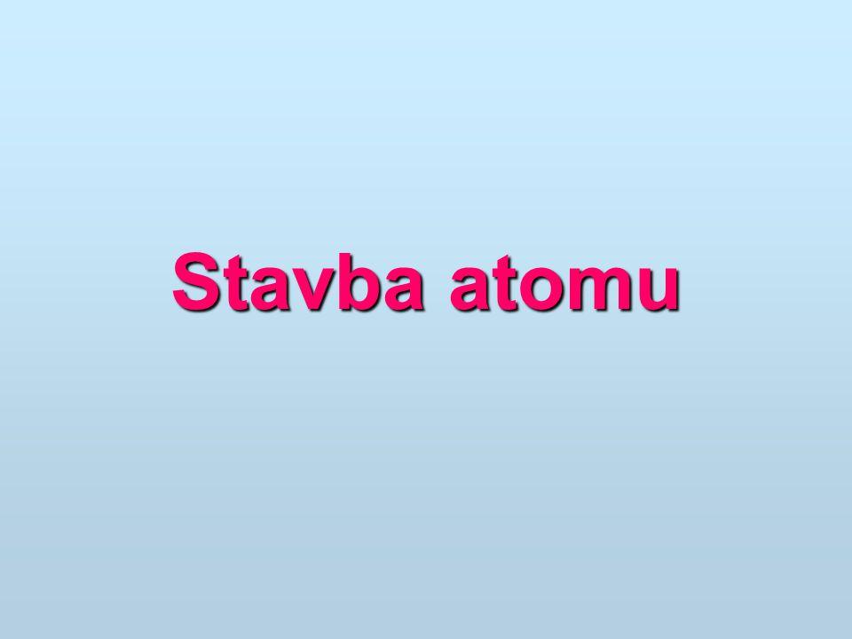 Atomy Velikost jádra přibližně 0,01.