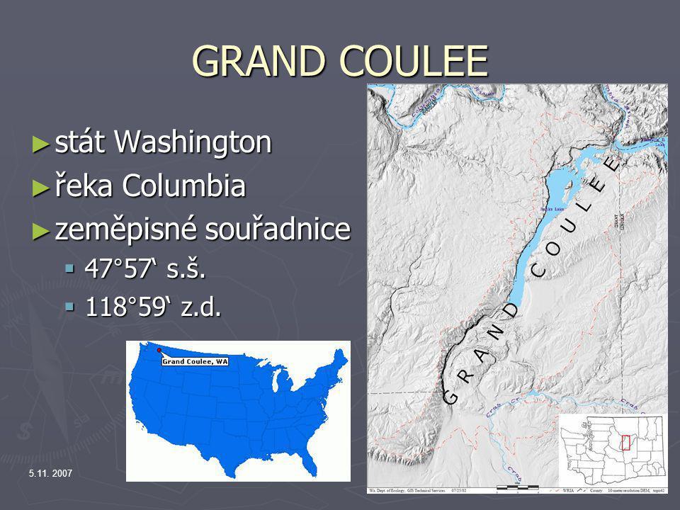 5.11. 2007 GRAND COULEE ► stát Washington ► řeka Columbia ► zeměpisné souřadnice  47°57' s.š.  118°59' z.d.