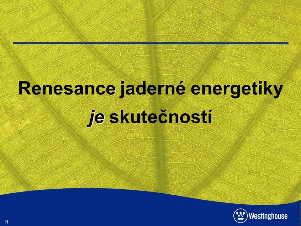 11 je Renesance jaderné energetiky je skutečností