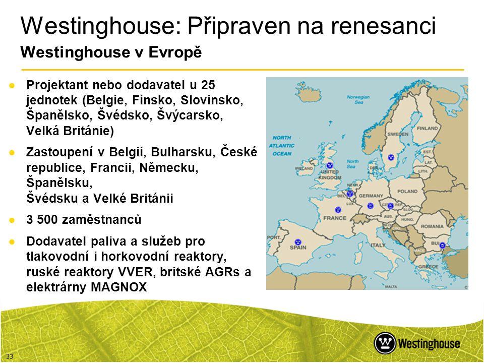 33 ●Projektant nebo dodavatel u 25 jednotek (Belgie, Finsko, Slovinsko, Španělsko, Švédsko, Švýcarsko, Velká Británie) ●Zastoupení v Belgii, Bulharsku