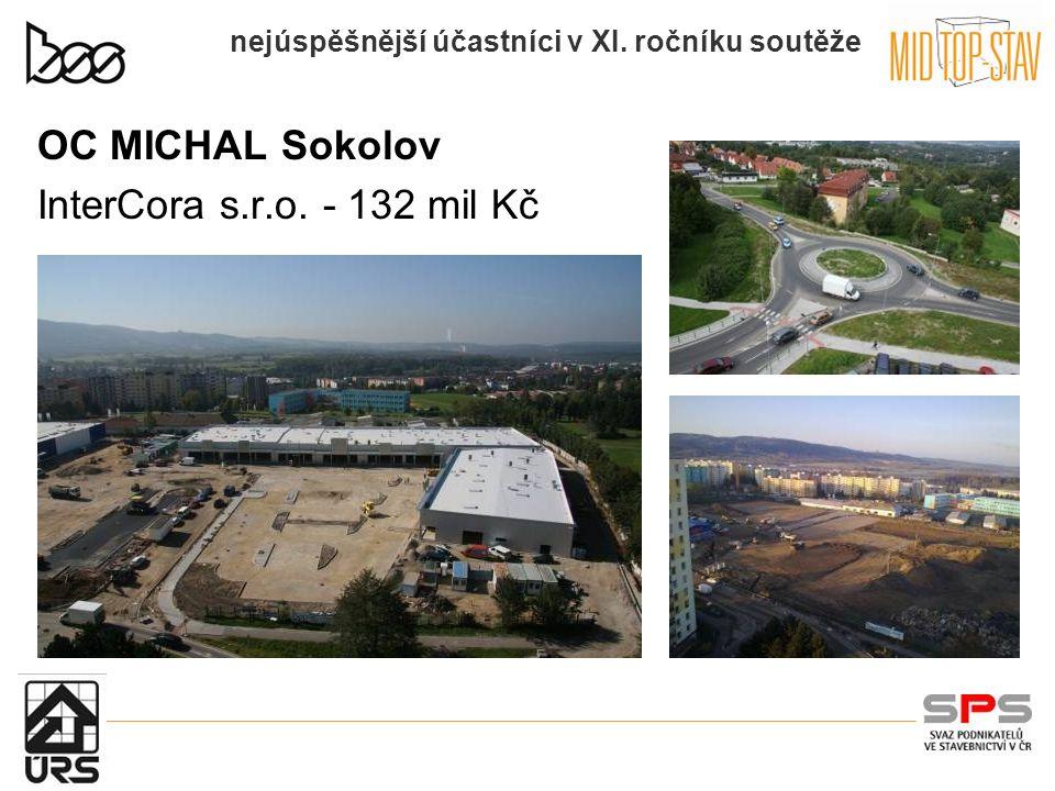 nejúspěšnější účastníci v XI. ročníku soutěže OC MICHAL Sokolov InterCora s.r.o. - 132 mil Kč