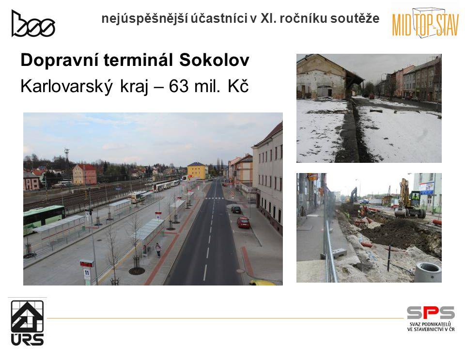 nejúspěšnější účastníci v XI.ročníku soutěže Dopravní terminál Sokolov Karlovarský kraj – 63 mil.
