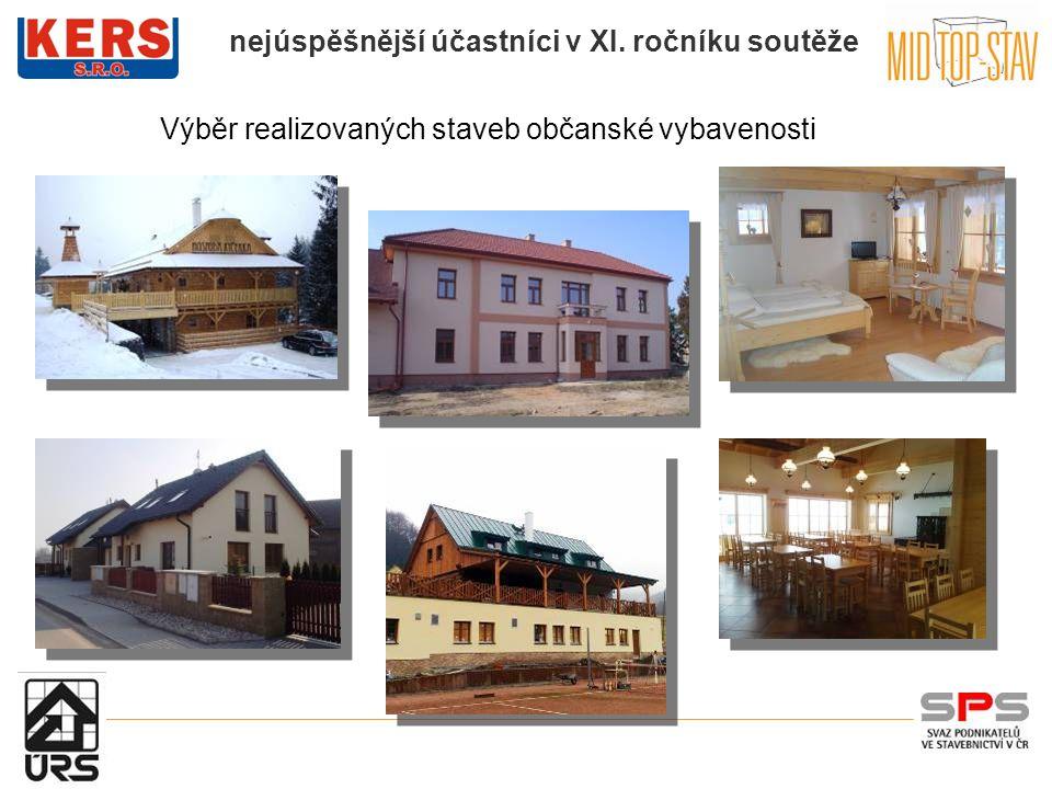 Výběr realizovaných staveb občanské vybavenosti
