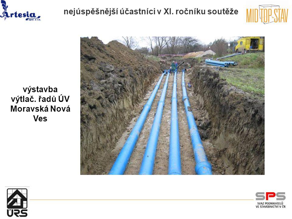 nejúspěšnější účastníci v XI. ročníku soutěže výstavba výtlač. řadů ÚV Moravská Nová Ves