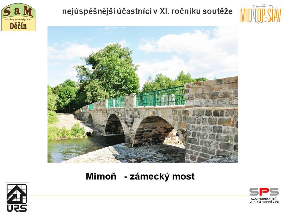nejúspěšnější účastníci v XI. ročníku soutěže Mimoň - zámecký most