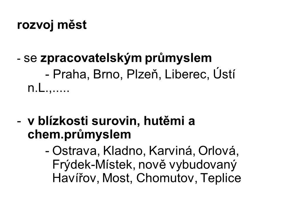 na důležitých železnič.tratích - Přerov, Pardubice, Brno...