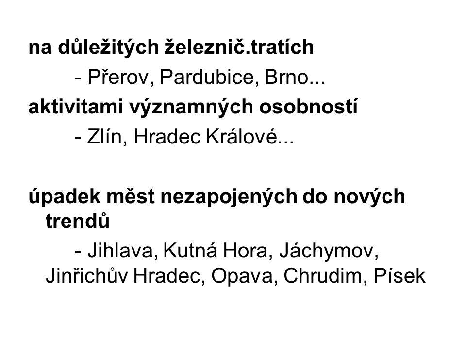 Po 2.sv.válce rozsáhlá výstavba panelových sídlišť na okrajích průmyslových center a snaha o decentralizaci průmyslu (Vsetín, Valašské Meziříčí, Žďár n.S....), která měla pozastavit odliv obyvatel z neperspektivních oblastí (Vysočina, Jižní Čechy, Moravsko-Slovenské pohraničí) tento trend jen zpomalilo