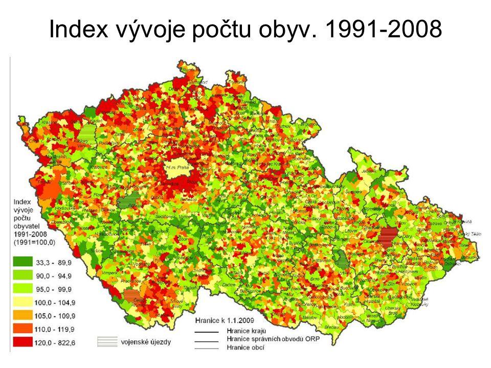 Intenzita bytové výstavby 1997- 2008