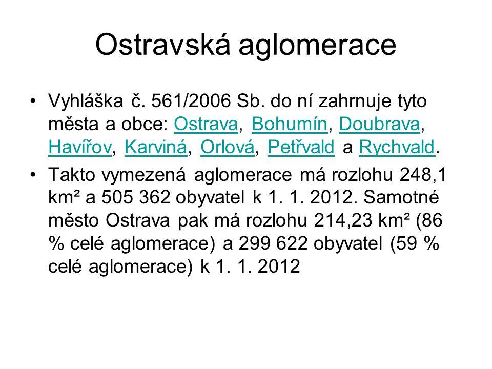 Brněnská aglomerace •Vyhláška č.561/2006 Sb.