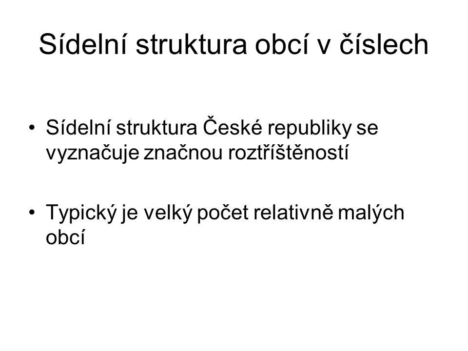 •V roce 2009 bylo v ČR celkem 6 249 obcí.