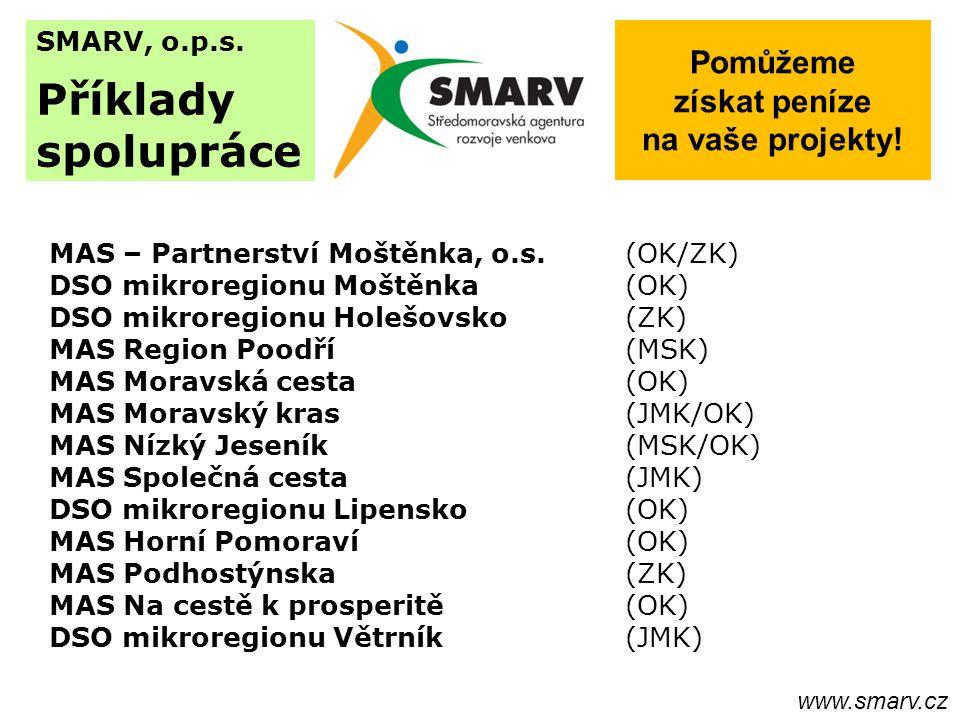 SMARV, o.p.s. Příklady spolupráce MAS – Partnerství Moštěnka, o.s.