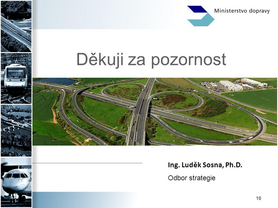 10 Děkuji za pozornost Ing. Luděk Sosna, Ph.D. Odbor strategie