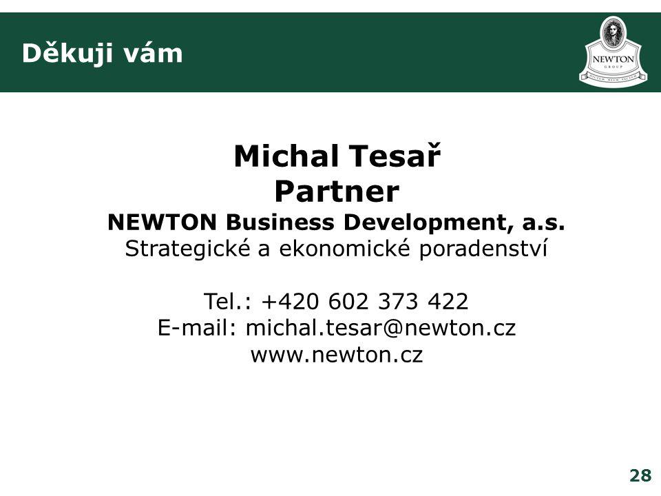 28 Děkuji vám Michal Tesař Partner NEWTON Business Development, a.s.