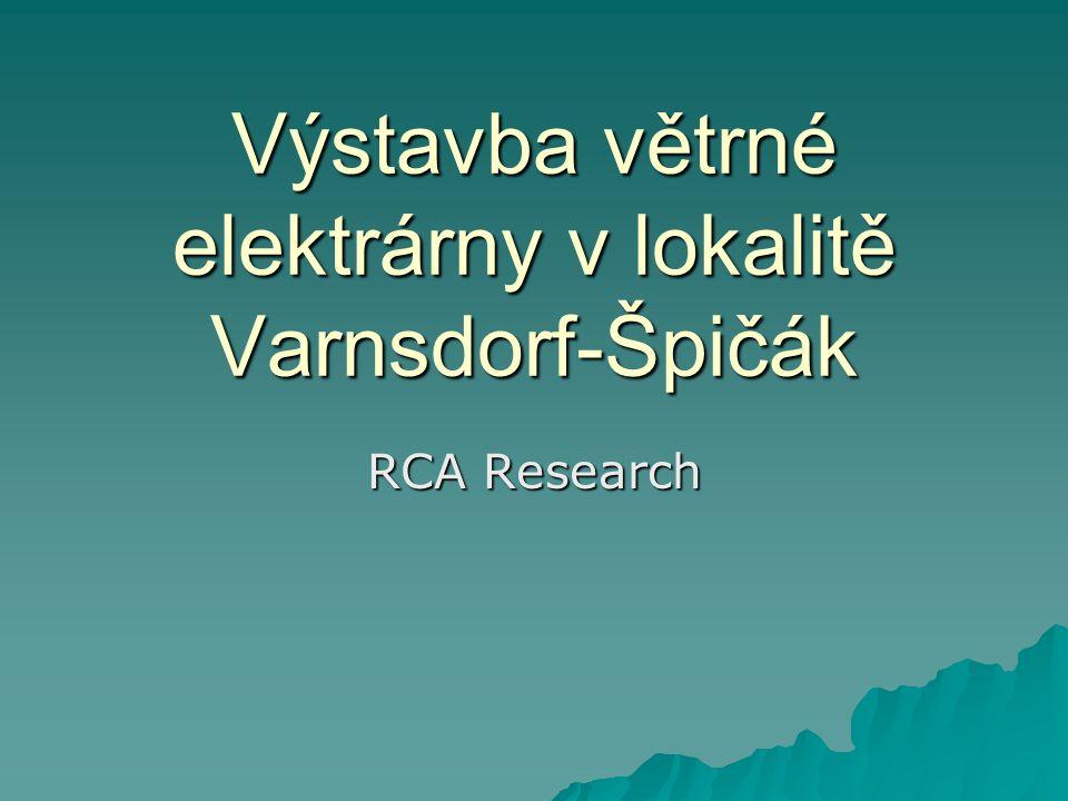 Výstavba větrné elektrárny v lokalitě Varnsdorf-Špičák RCA Research