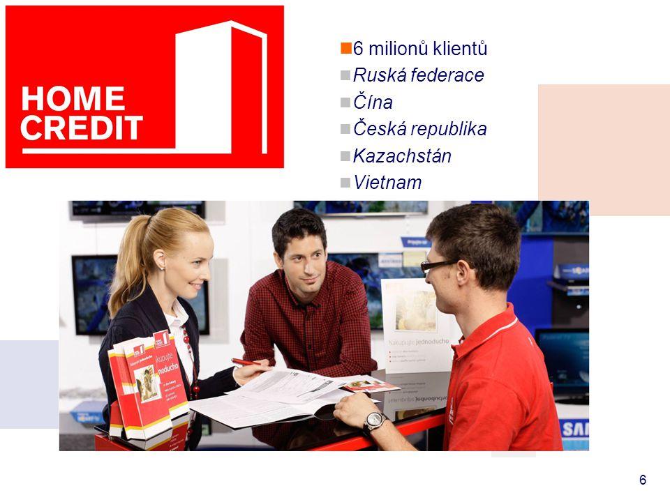  6 milionů klientů  Ruská federace  Čína  Česká republika  Kazachstán  Vietnam  Indie  Bělorusko 6