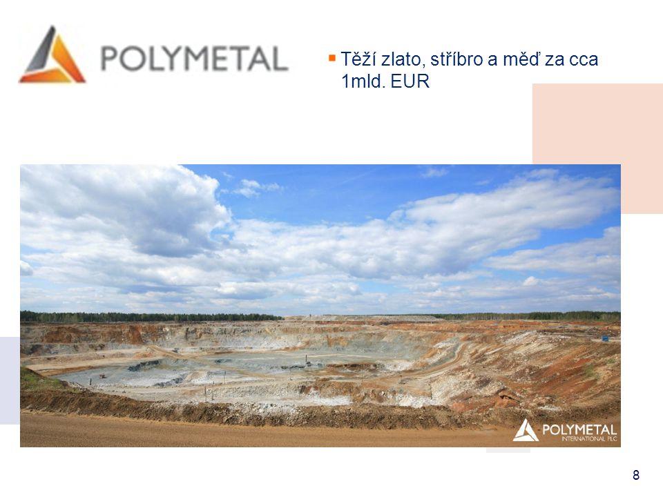 8  Těží zlato, stříbro a měď za cca 1mld. EUR