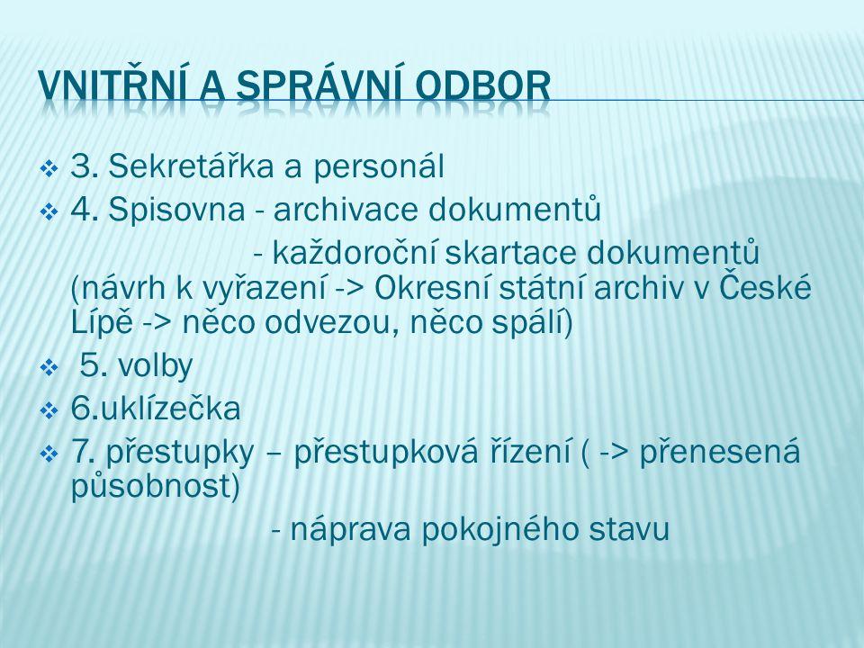  Vedoucí odboru: Dočkalová Jitka  1.