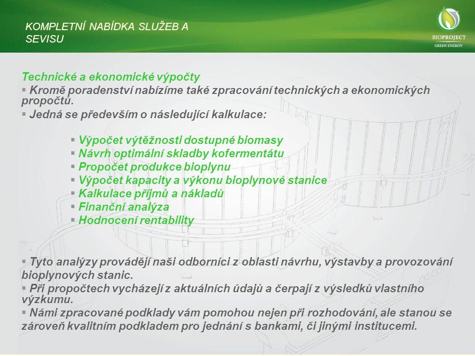 Technické a ekonomické výpočty  Kromě poradenství nabízíme také zpracování technických a ekonomických propočtů.