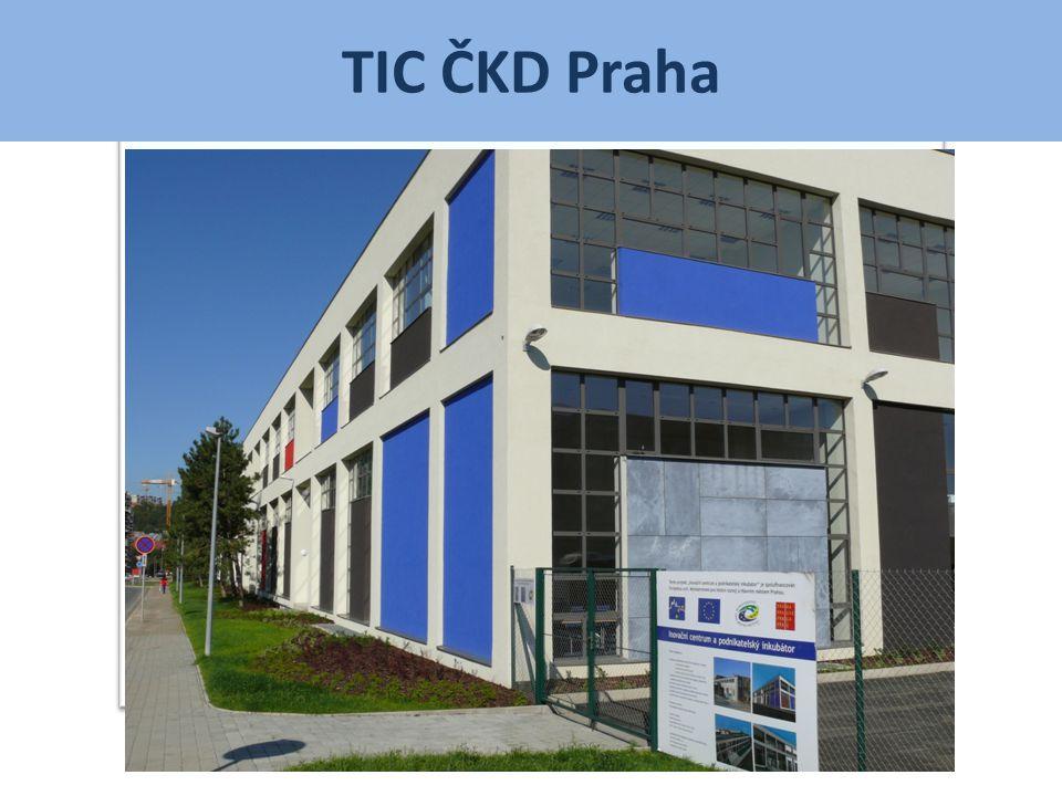 TIC ČKD Praha v číslech • 2000 m 2 užitných ploch • V rámci areálu ČKD Nové Energo, a.s.