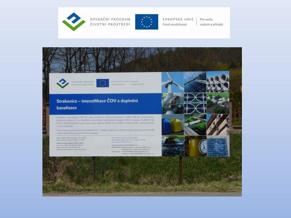 Projekt Strakonice • Podprojekt č.1 – Intenzifikace ČOV • Cena prací 258 735 802,- Kč vč.