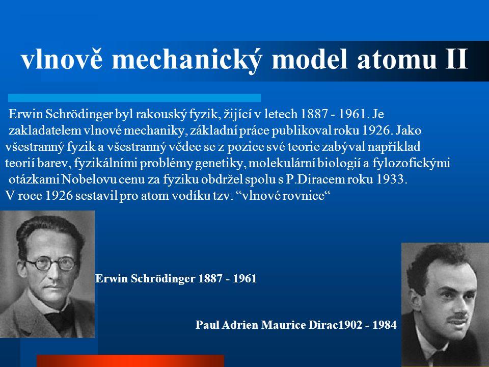 Erwin Schrödinger byl rakouský fyzik, žijící v letech 1887 - 1961. Je zakladatelem vlnové mechaniky, základní práce publikoval roku 1926. Jako všestra