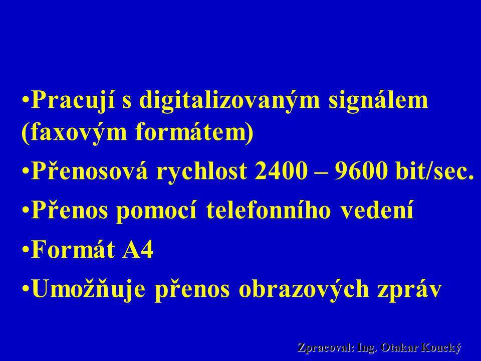Zpracoval: Ing. Otakar Koucký Telefaxy TelefaxyTelefaxy