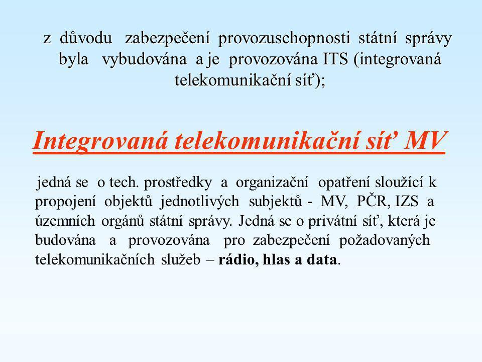 """Zpracoval: Ing. Otakar Koucký •ze """"Zákona č 2/1969 Sb. o zřízení ministerstev"""" vyplývá, že Ministerstvo vnitra zajišťuje komunikační sítě (KS) pro Pol"""