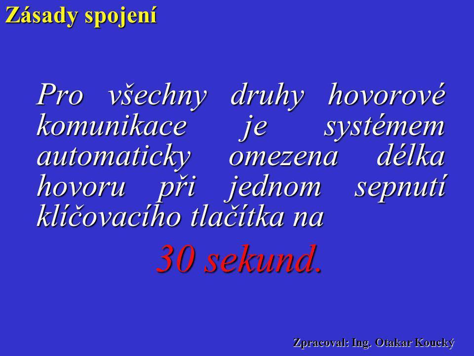 Zpracoval: Ing. Otakar Koucký a)rychlost řeči - nesmí se mluvit příliš rychle nebo zase příliš pomalu b) rytmus řeči – přirozené klesání a stoupání hl