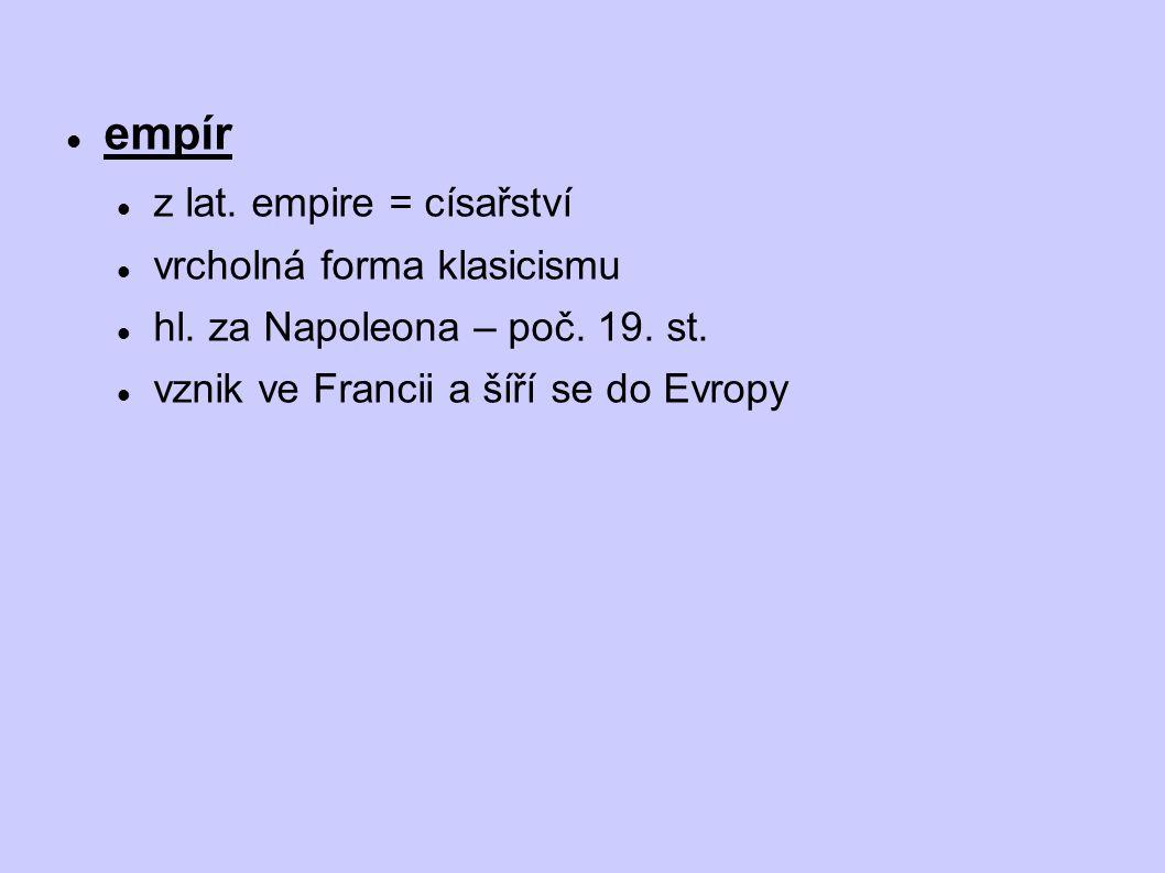 Seznam použité literatury  Prokop, V.: Kapitoly z dějin výtvarného umění.