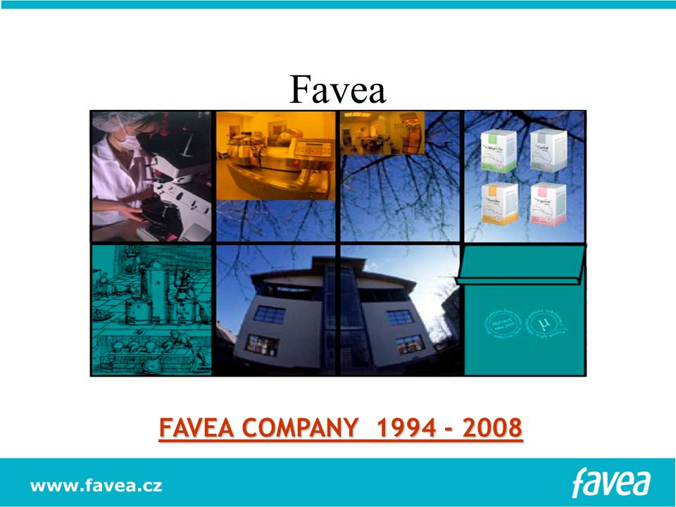 PHARMACEUTICAL FOOD COSMETIC FAVEA COMPANY 1994 - 2008 HUMAN AND VETERINARY PRODUCTS