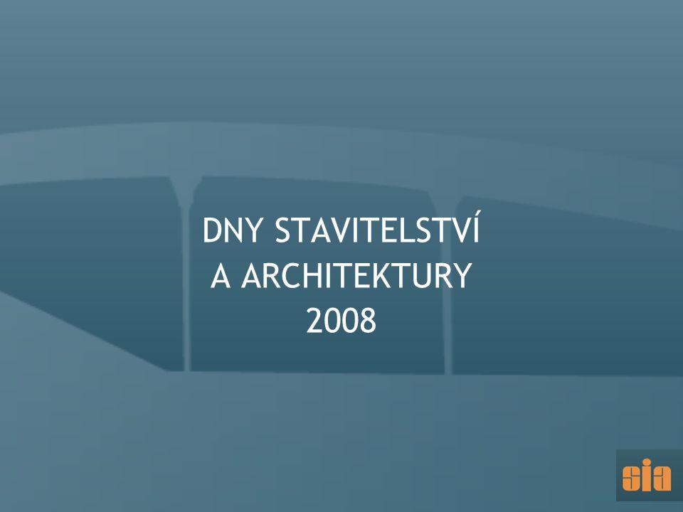 DNY STAVITELSTVÍ A ARCHITEKTURY 2008