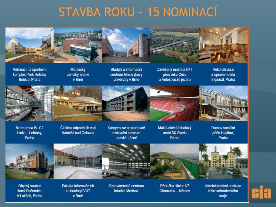 STAVBA ROKU - 15 NOMINACÍ