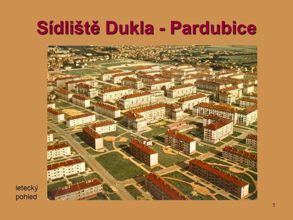 1 Sídliště Dukla - Pardubice letecký pohled