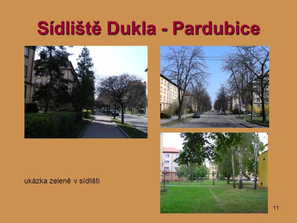 11 Sídliště Dukla - Pardubice ukázka zeleně v sídlišti