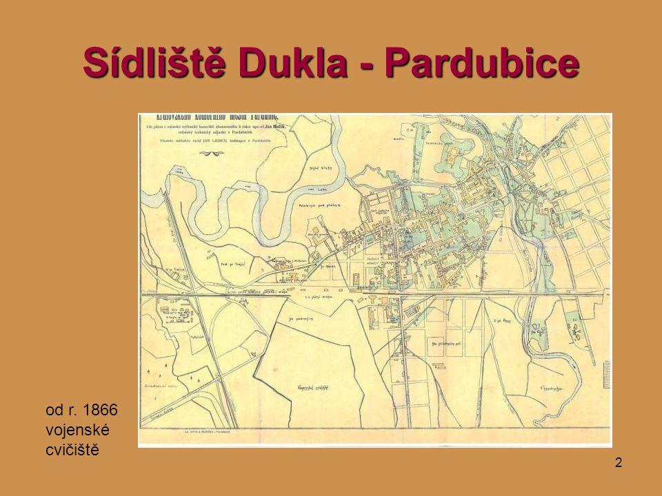 2 Sídliště Dukla - Pardubice od r. 1866 vojenské cvičiště