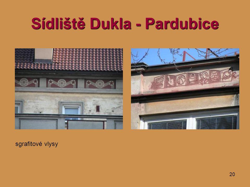 20 Sídliště Dukla - Pardubice sgrafitové vlysy