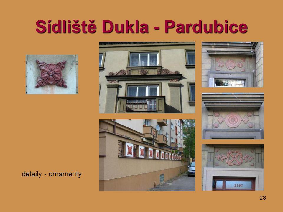 23 Sídliště Dukla - Pardubice detaily - ornamenty
