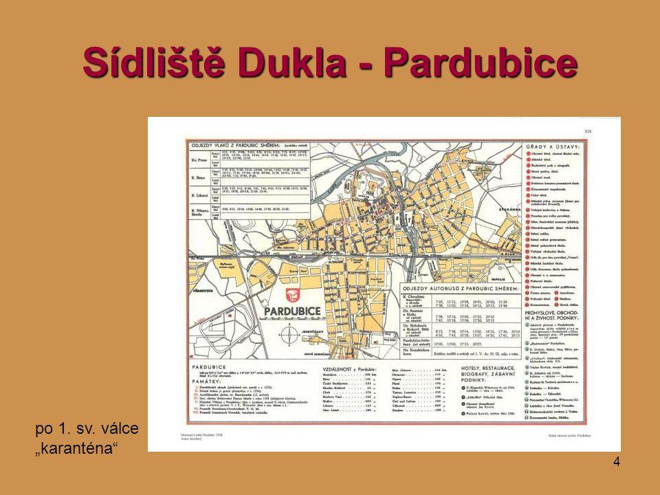 """4 Sídliště Dukla - Pardubice po 1. sv. válce """"karanténa"""""""