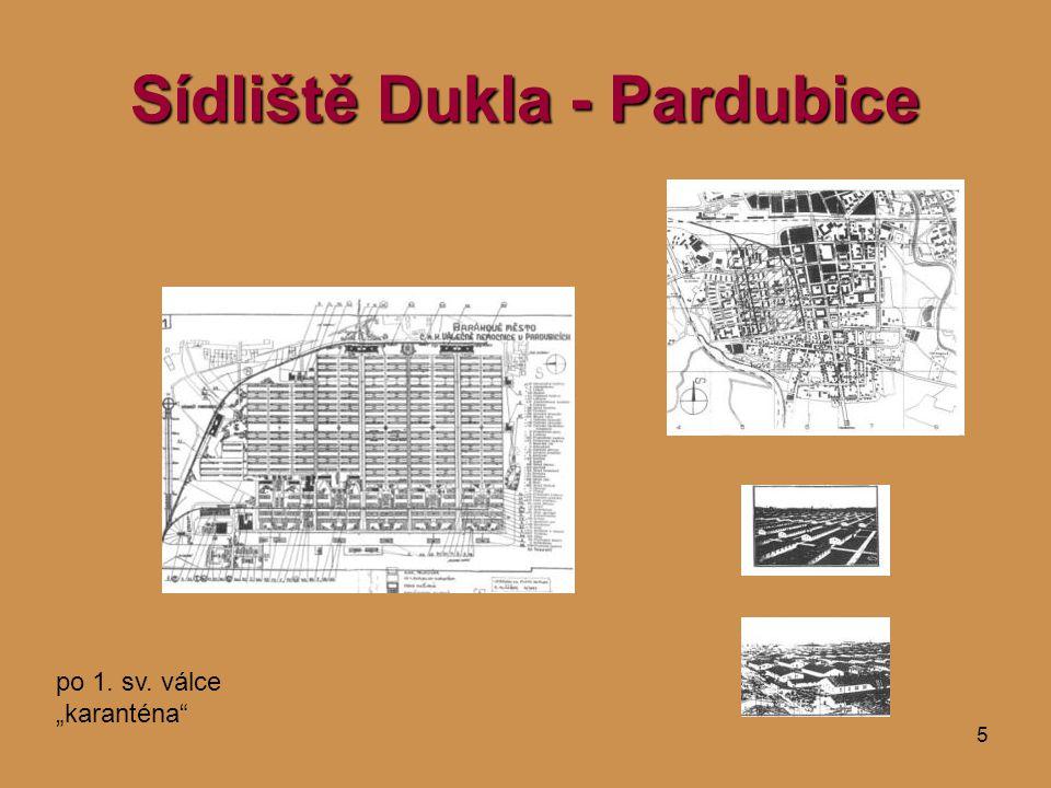 """5 Sídliště Dukla - Pardubice po 1. sv. válce """"karanténa"""""""