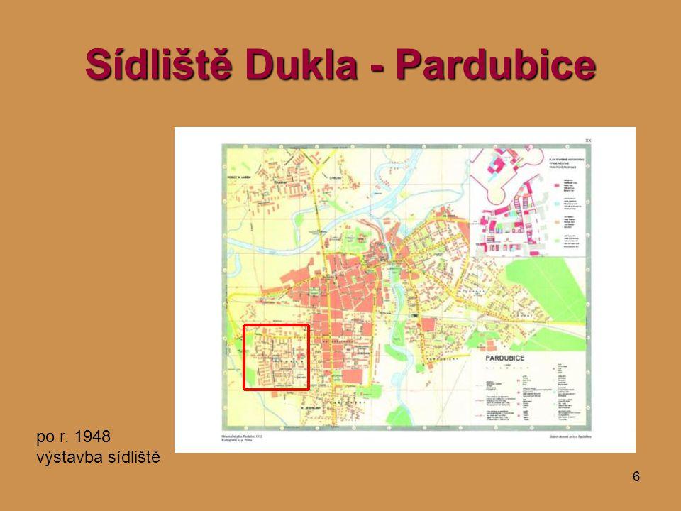 6 Sídliště Dukla - Pardubice po r. 1948 výstavba sídliště