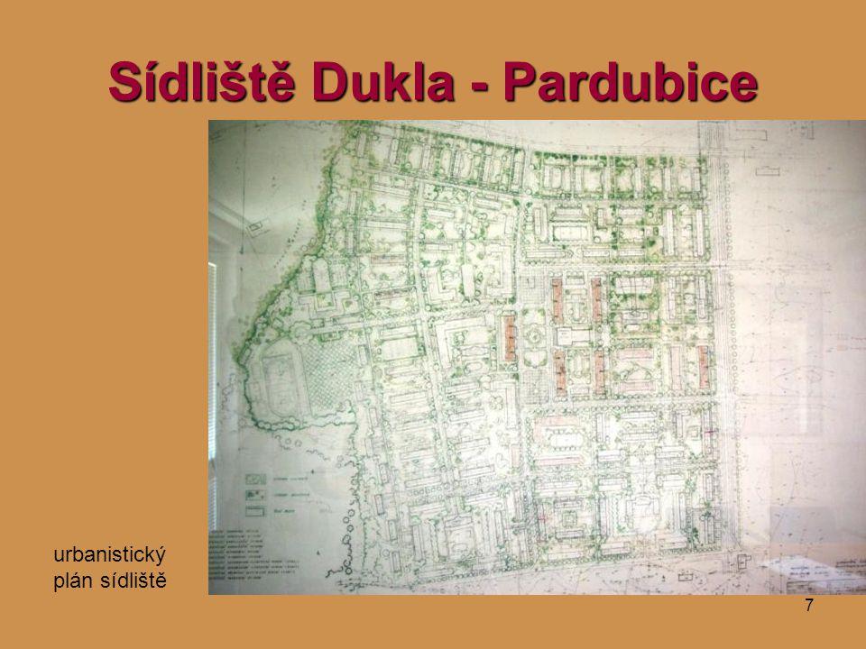 7 Sídliště Dukla - Pardubice urbanistický plán sídliště