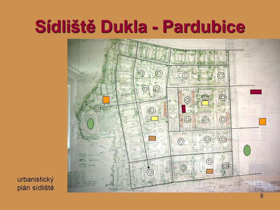 9 Sídliště Dukla - Pardubice urbanistický plán sídliště