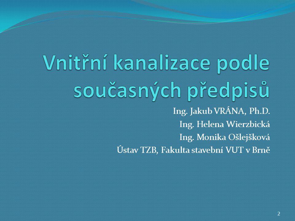 Ing.Jakub VRÁNA, Ph.D. Ing. Helena Wierzbická Ing.