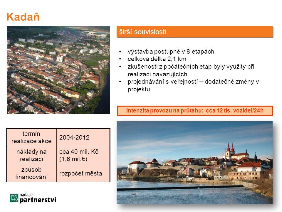 termín realizace akce 2004-2012 náklady na realizaci cca 40 mil. Kč (1,6 mil.€) způsob financování rozpočet města širší souvislosti •výstavba postupně
