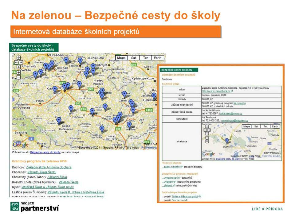 Na zelenou – Bezpečné cesty do školy Internetová databáze školních projektů