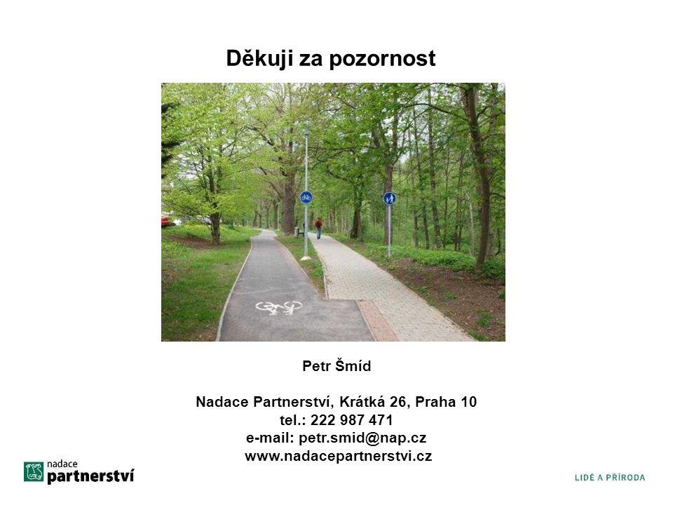 Děkuji za pozornost Petr Šmíd Nadace Partnerství, Krátká 26, Praha 10 tel.: 222 987 471 e-mail: petr.smid@nap.cz www.nadacepartnerstvi.cz